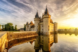 The chateau of Sully-sur-Loire at sunset, #France, #travel #best #photos and #places #Loire