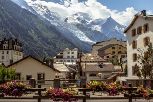 View on the Mont Blanc massif and glacier from Chamonix, #France, #travel #best #photos and #places