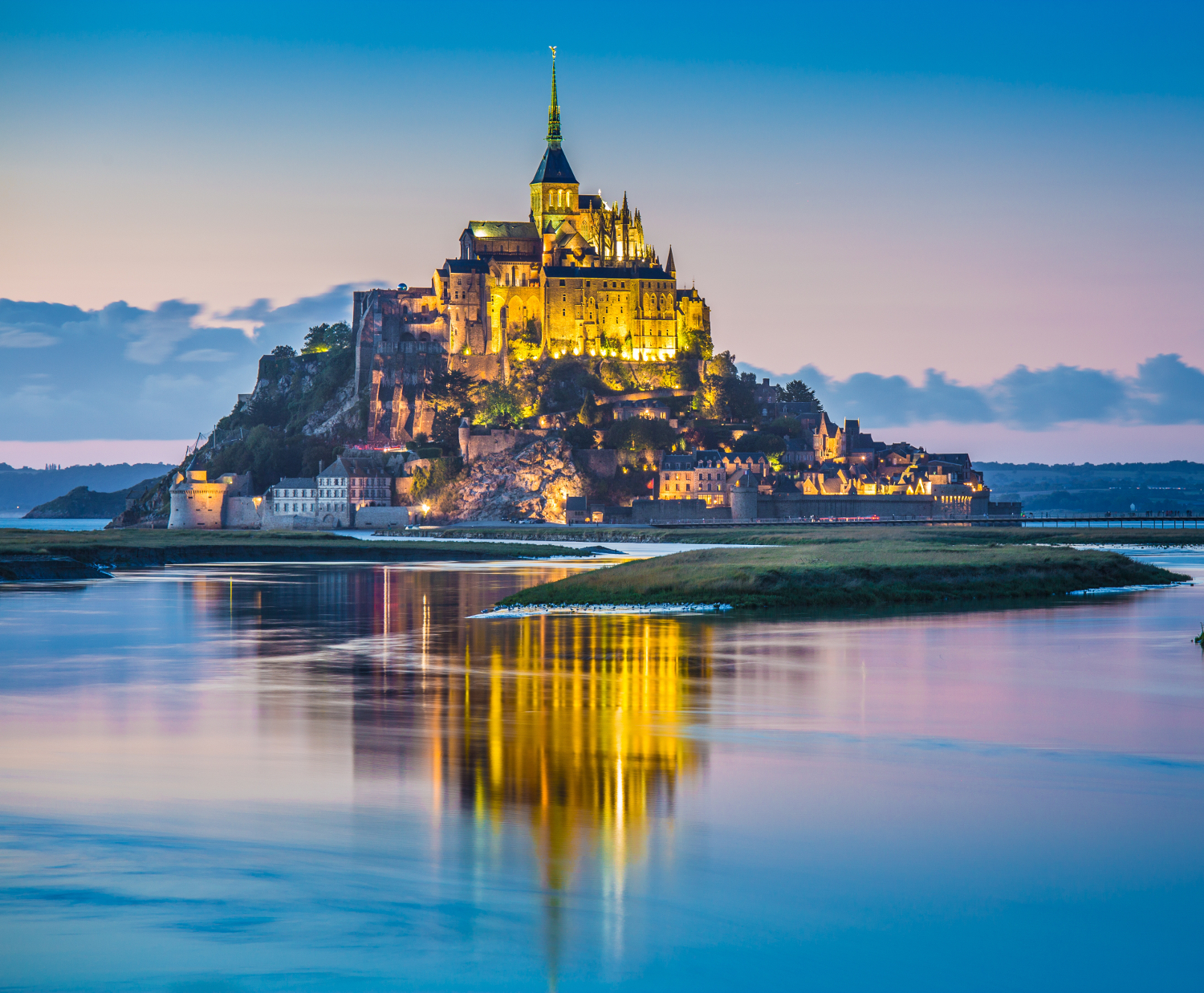 Le Mont Saint-Michel at dusk #France, #travel #best #photos and #places