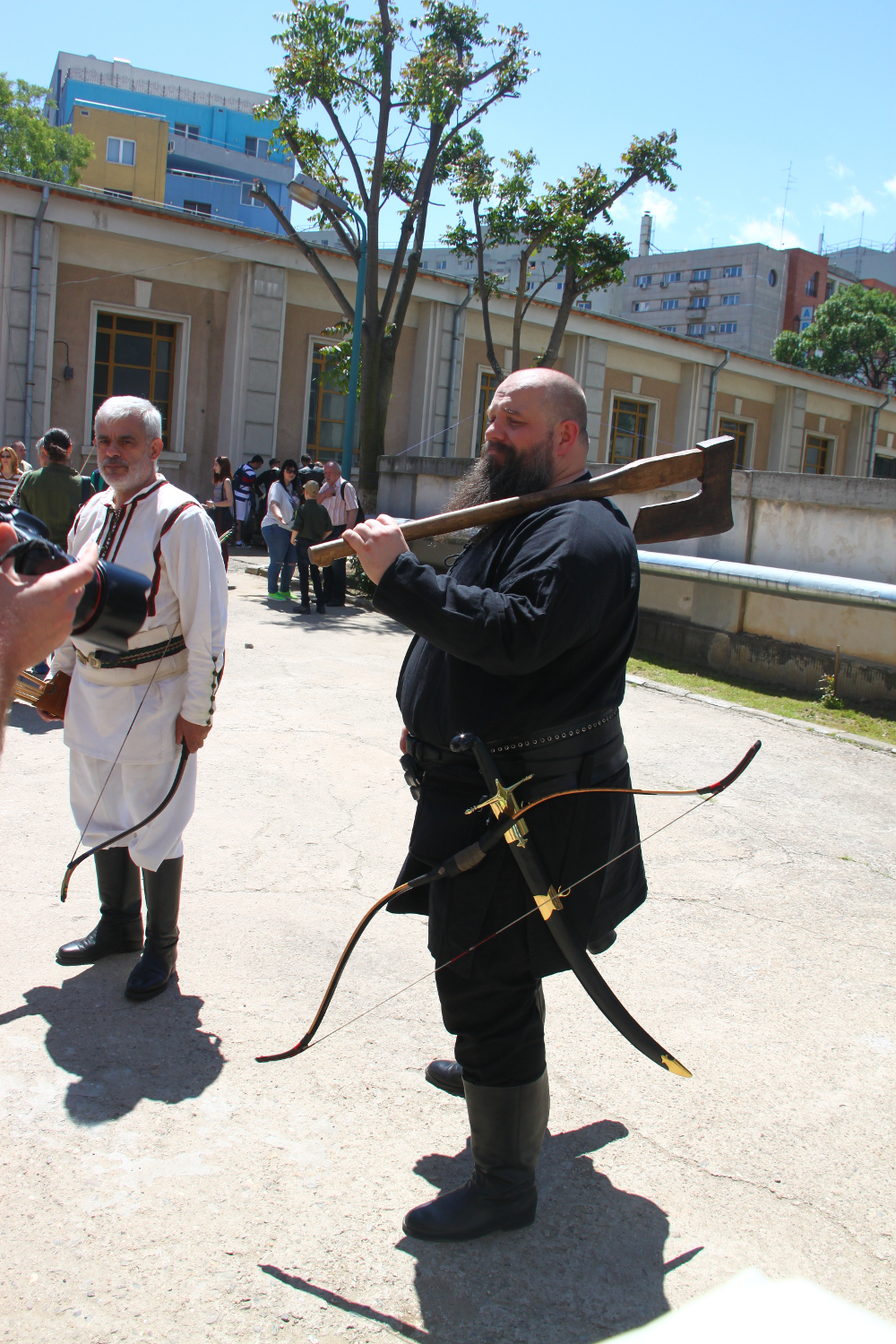 man with Ax - Historical reenactments