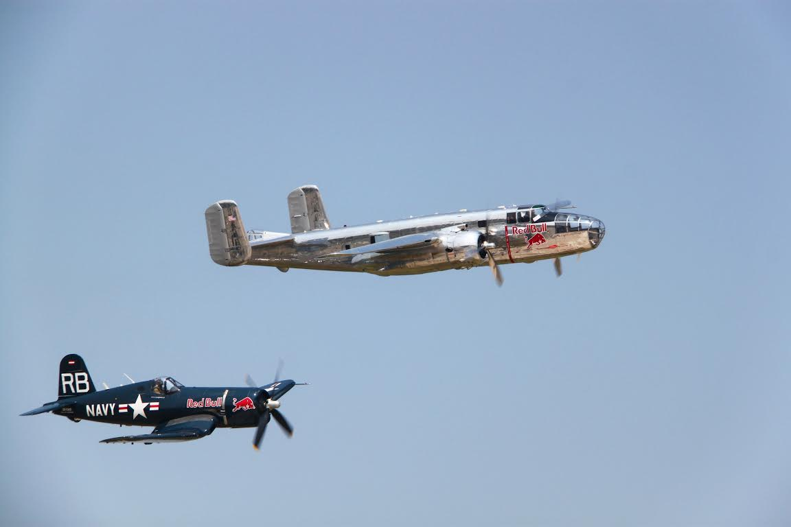 F4U Corsair and B-25 Mitchell - #BIAS 2016 - #Bucharest International Air #Show