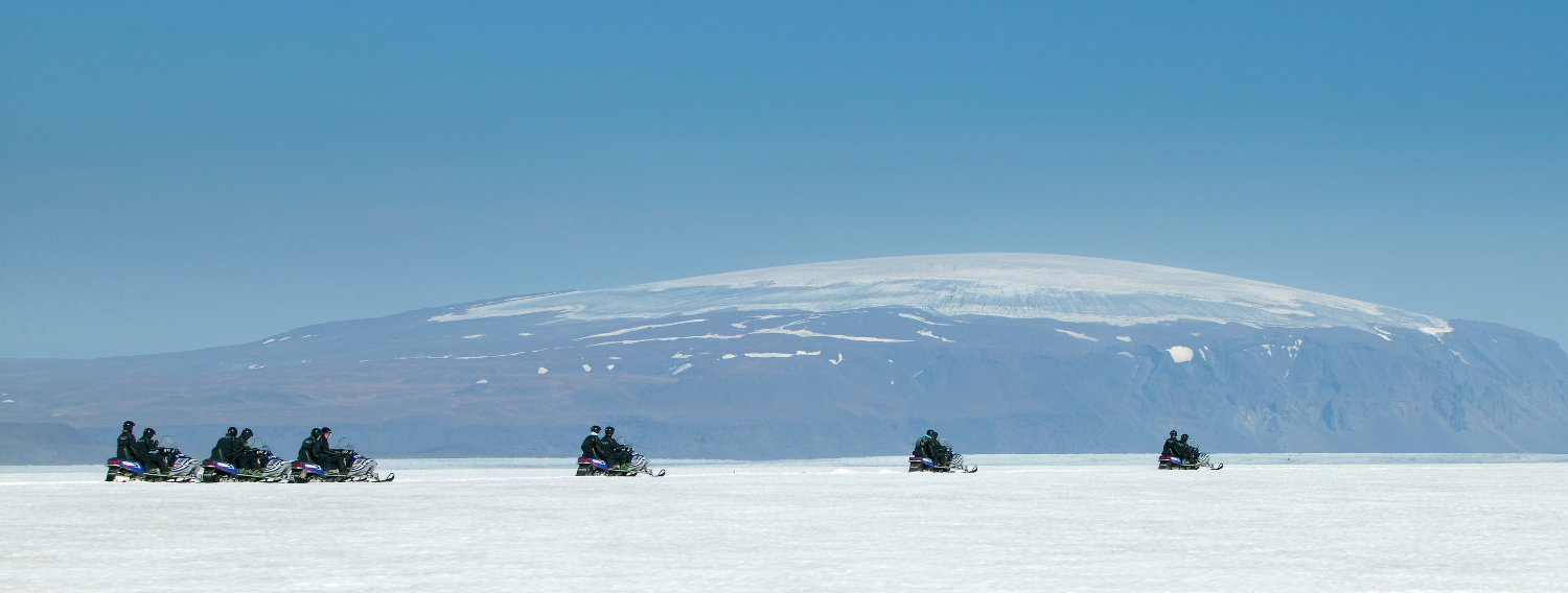 Snowmobiling in #Iceland #travel #Europe