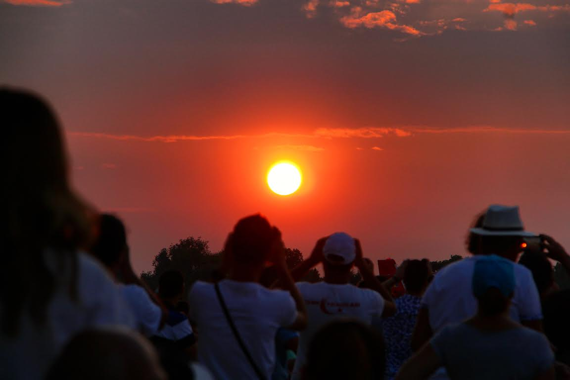 The amazing sunset at  #BIAS 2016 - #Bucharest International Air #Show