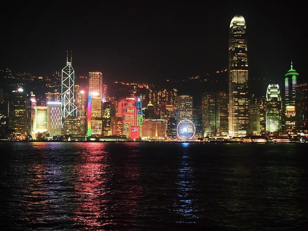 Hong Kong - skyline at night - Top Destinations to visit in 2017 recommended by #travel bloggers
