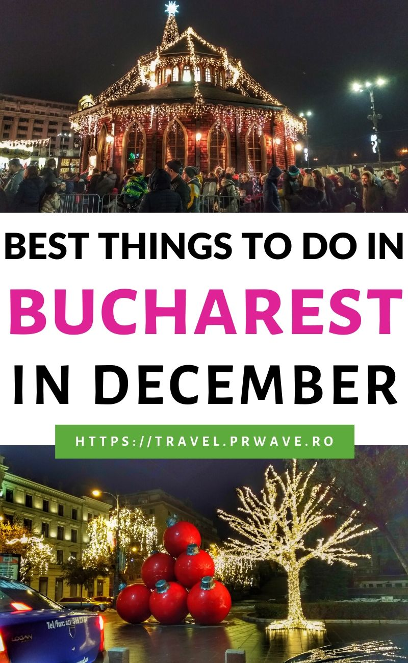 Best things to do in Bucharest in December. Discover what to do in December in Bucharest - from the National Day Parade to Bucharest Christmas Market and fairs, and other things to do in Bucharest at Christmas, this articles includes all the festive activities in Bucharest in December. #bucharest #christmas #holidays #december #romania