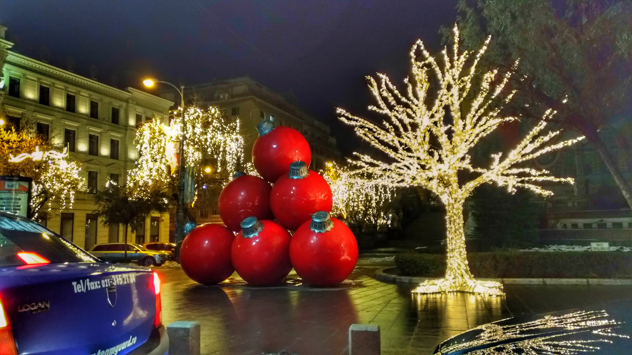 Christmas lights - Bucharest. What to do in Bucharest in December