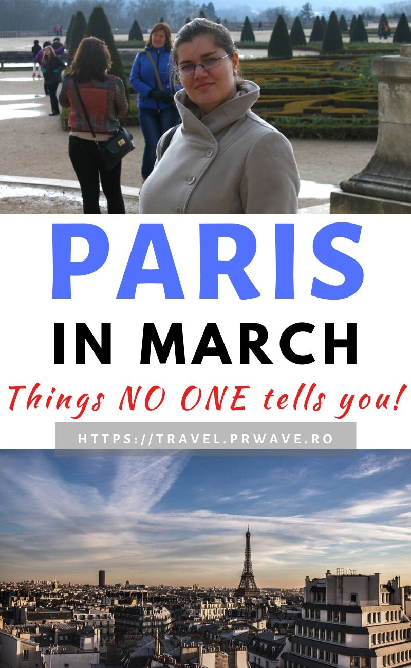 Things NO ONE tells you about visiting Paris in March. Discover everything you need to know about traveling to Paris in March, weather in Paris in MArch and the best time to visit Paris, France. Useful Paris tips for your perfect Paris spring vacation! #paris #paristips #france #europe #travelmomentsintime