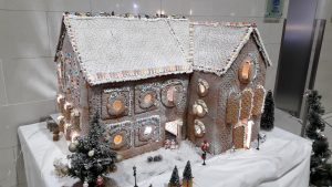 Gingerbread house at Hilton London Heathrow Airport