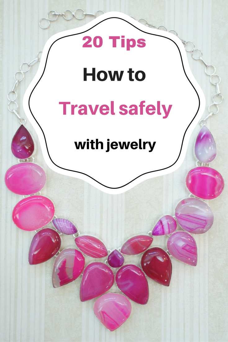 20 tips on how to travel safely with jewelry #travel #tips #travelguide