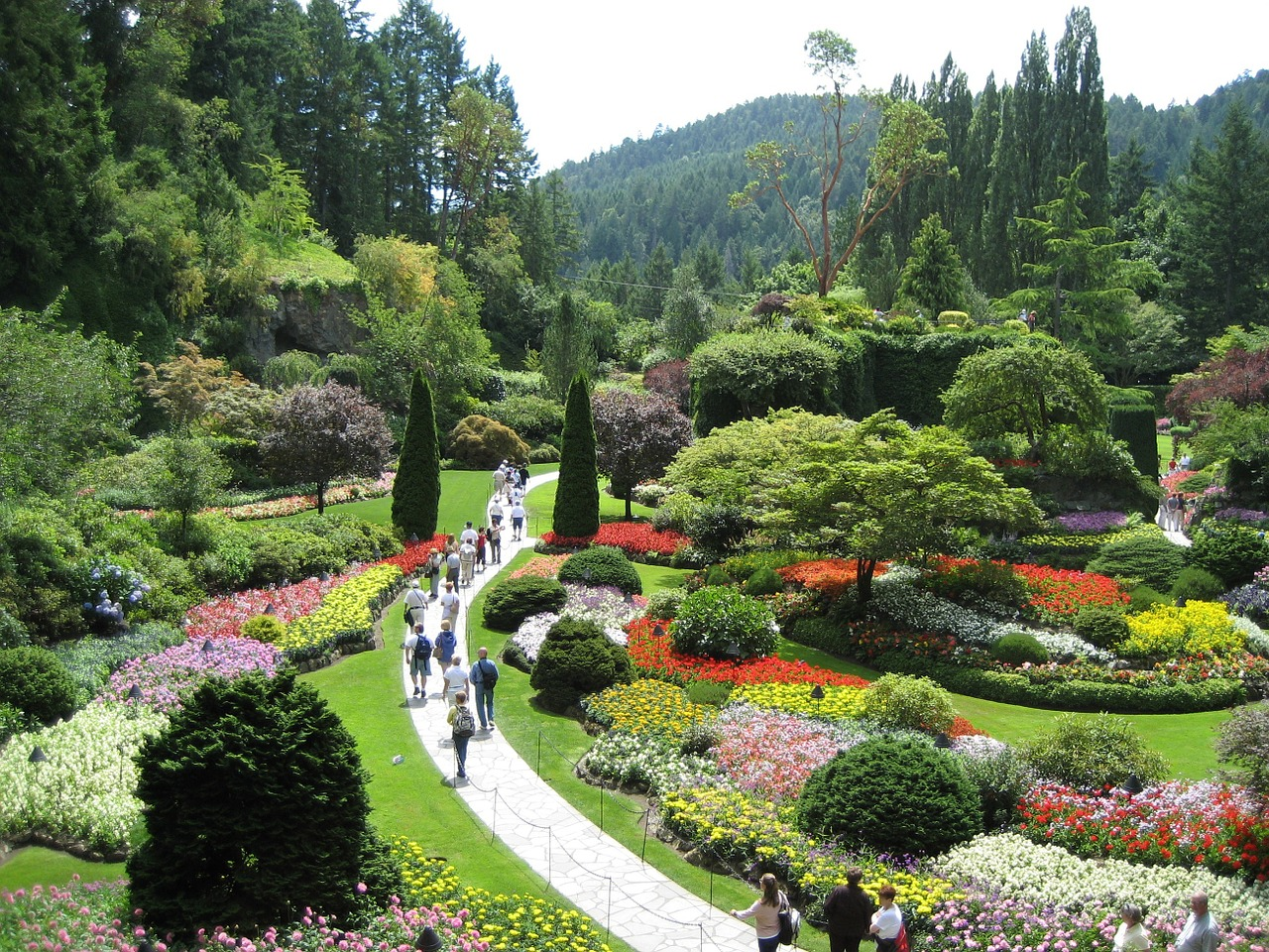 Butchart Gardens - Incredible Routes for Family Road Trips in Canada on a Budget