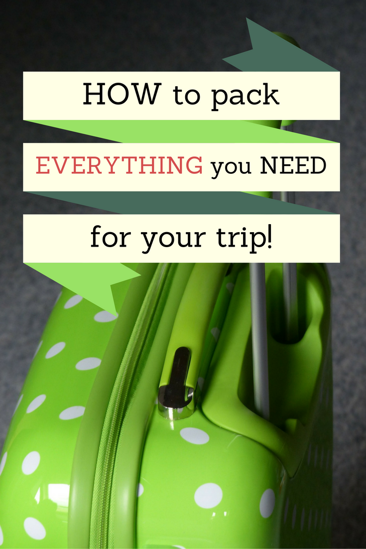 How to make sure you pack everything you need for your trip! #travel #tips