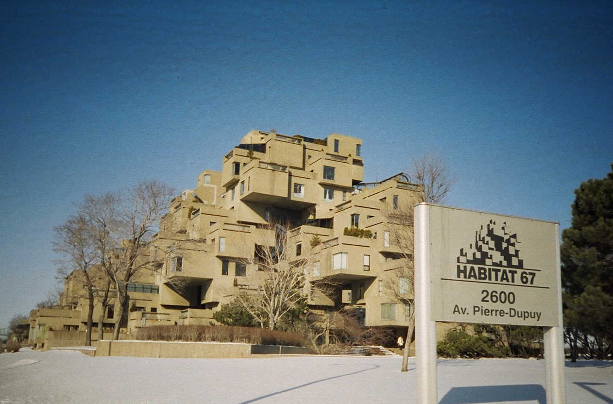 Habitat 67 in winter