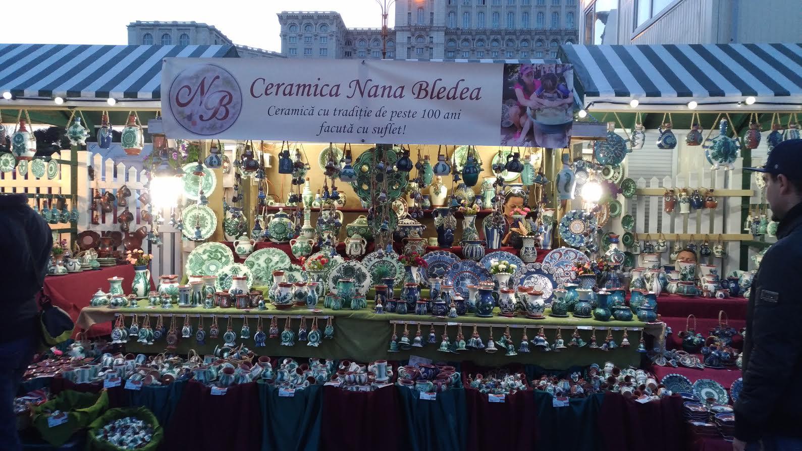 Easter Market in Bucharest, Romania - ceramics
