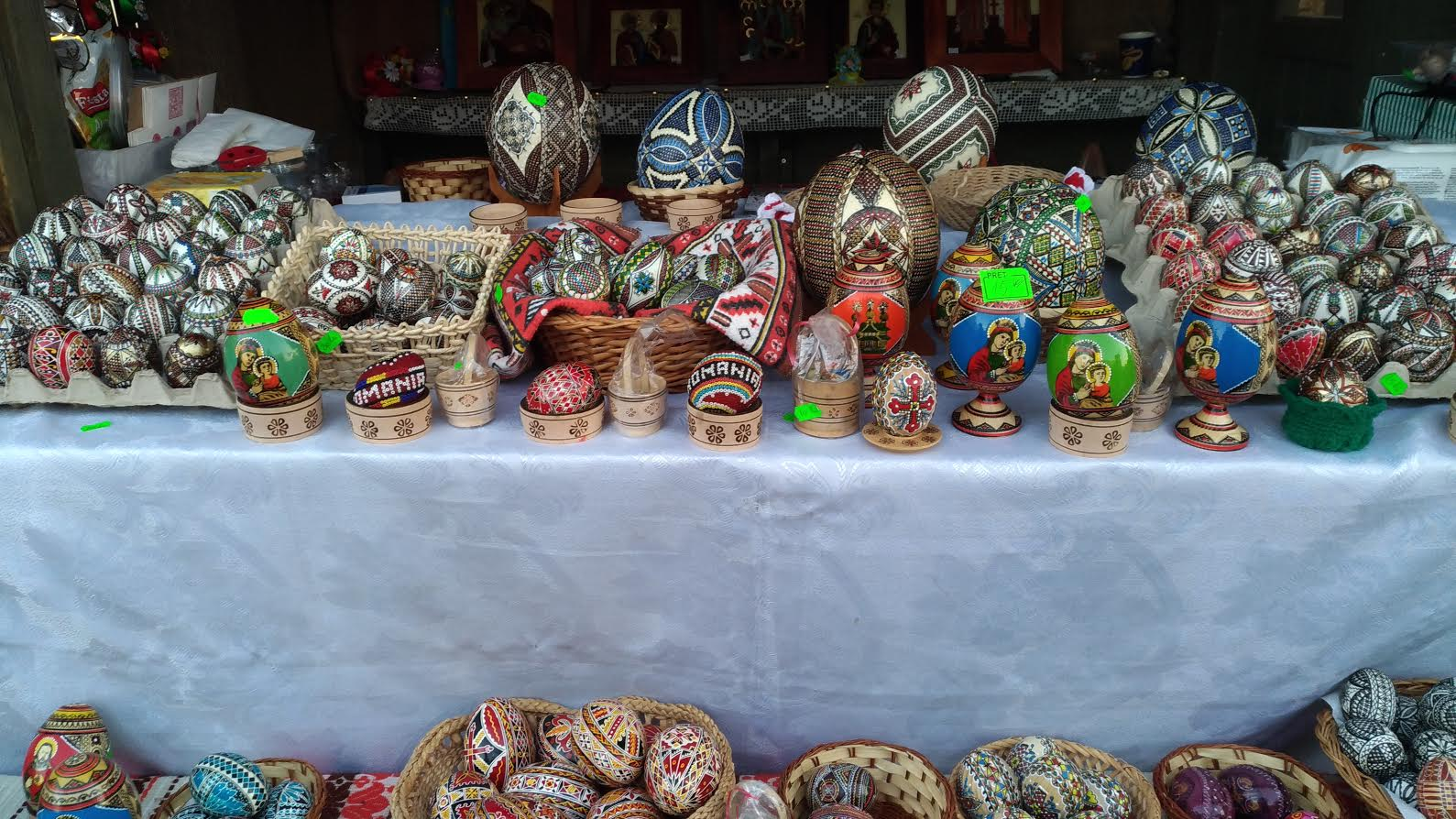 Easter Market in Bucharest, Romania - various eggs manually decorated/painted