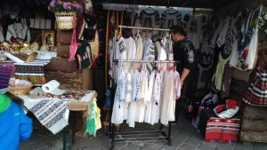 Easter Market in Bucharest, Romania - traditional clothing
