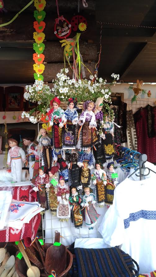 Easter Market in Bucharest, Romania - dolls