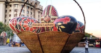 Easter Market in Bucharest, Romania - Eggs basket