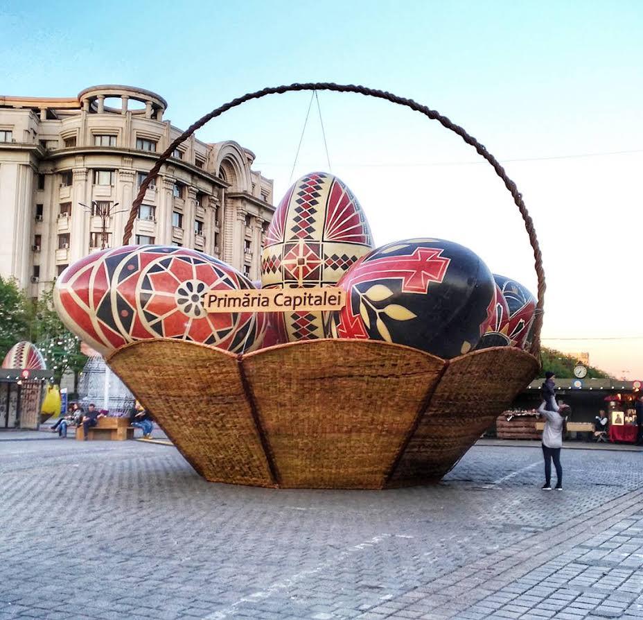 Easter Market in Bucharest, Romania - Eggs basket