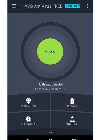 AVG free antivirus Android smartphone