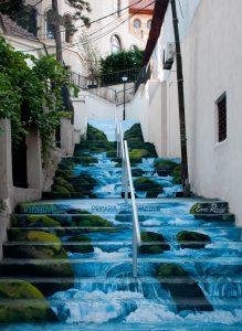 Xenofon Street in stairs Bucharest