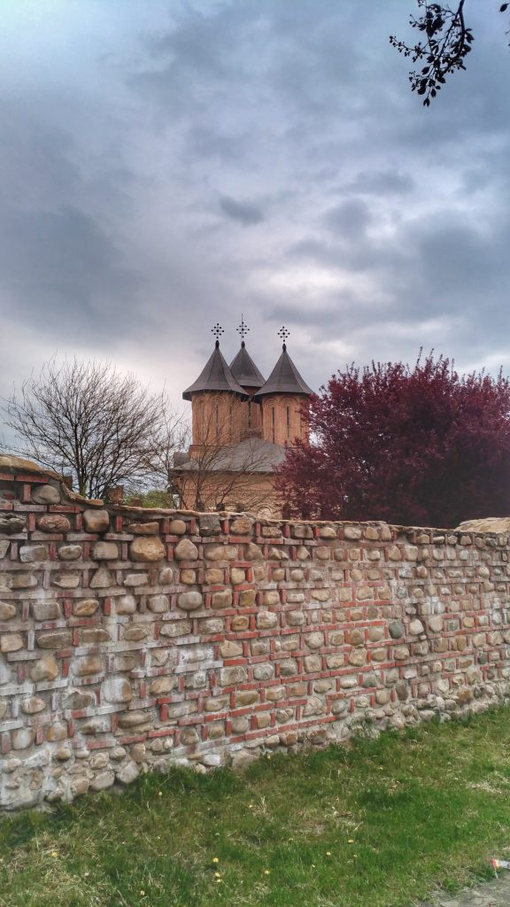 Great Princely Church, in Targoviste seen from the exterior of the fortified wall