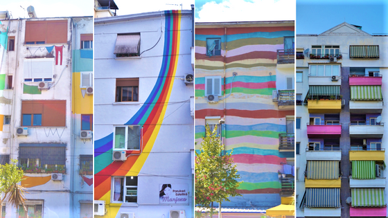 Colourful Houses of Tirana, Albania