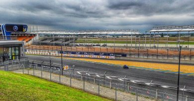 Photo: the famous racing circuit in Le Mans, France