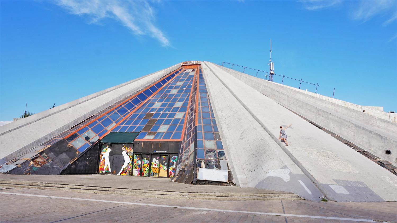 Abandoned Pyramid, Tirana, Albania