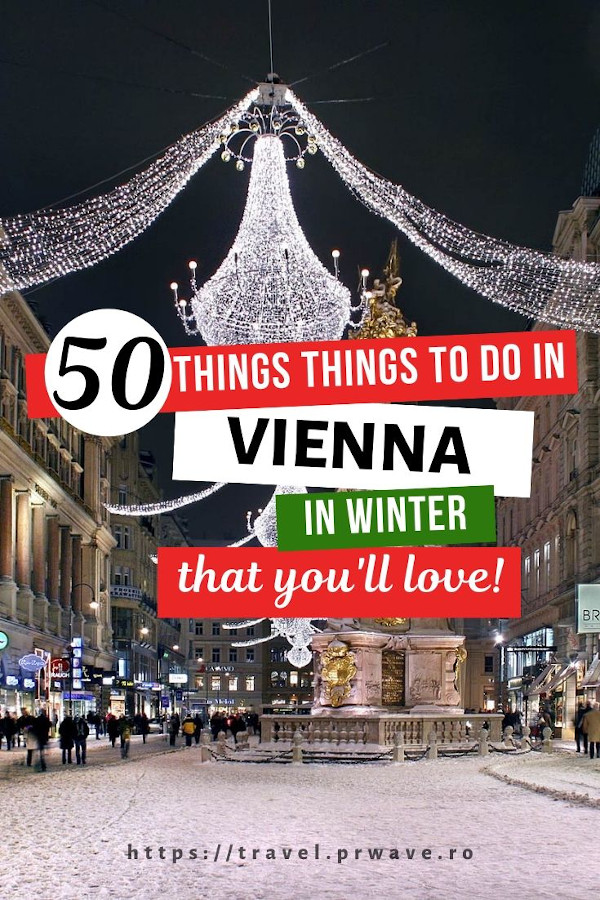 50 Amazing things to do in Vienna in winter! Make sure to include all of these winter activities in Vienna, Austria. From Vienna Christmas market to special winter food in Vienna, from New Year's Eve events in Vienna to great places to visit in Vienna during winter, everything is included. Consider this your Vienna bucket list for winter - with the best thinfs to do in winter in Vienna. #vienna #wien #austria #travel #europe