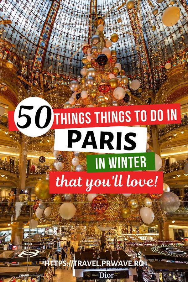 50 Amazing thinfs to do in Paris in winter. Discover the best things to do in Paris at Christmas, the best winter activities in Paris - and numerous things to do in December in Paris from this article! If you are planning to visit Paris in winter, this article presents you the top activities in Paris during winter! #paris #winter #christmas #france #travel