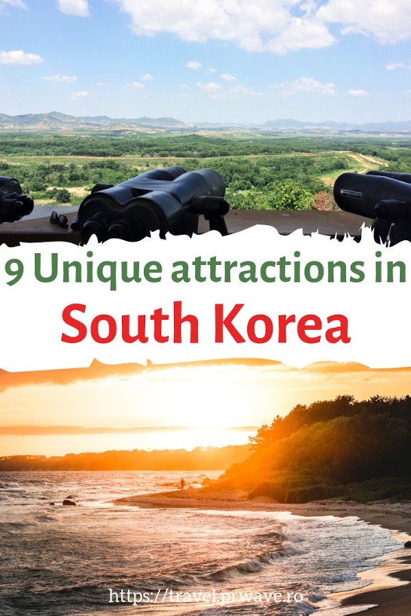 9 interesting and unique places to visit in South Korea - the top unique attractions in South Korea you have to include on your South Korea itinerary. #southkorea #asia #travel