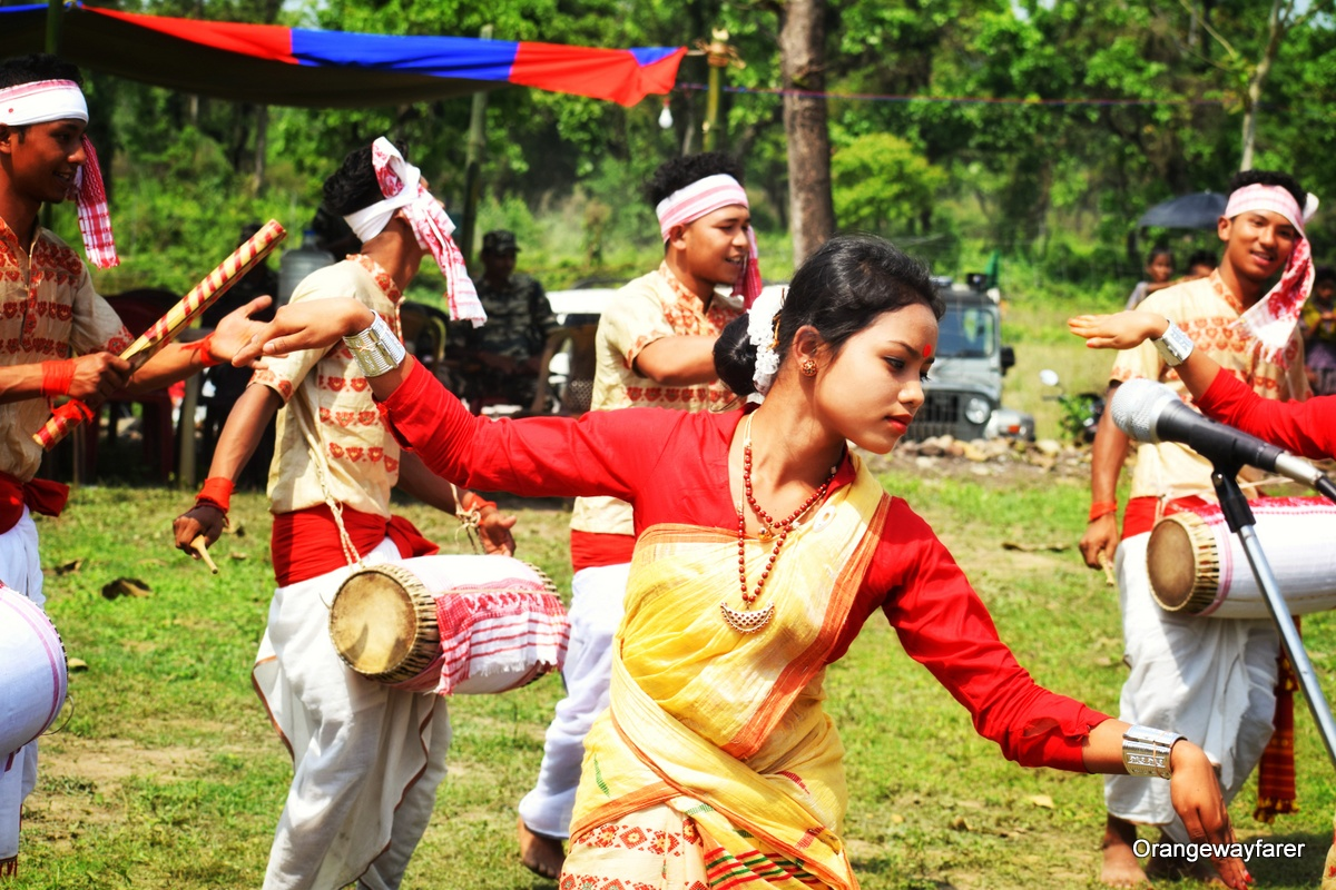 Bihu dande of Assam from North East India. Read this article to learn the top 10 things to know before traveling to Indiatips from a local. #india #indiatips #asia #asiatravel