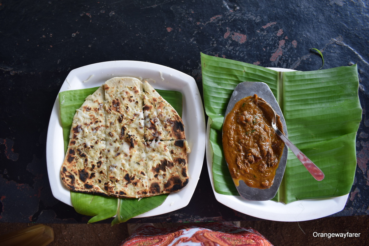 Bread and banana flower curry, India. Read more about food in India, what to see in India, Indian religion, Indian beaches, metro cities in India and more. The article contains all you need to know when you travel to India with information from a local. #india #indiatips #asia #asiatravel