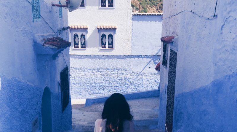 Colourful blue streets of Chefchaouen. Discover what you need to know before traveling to Morocco #Morocco #moroccotravel #traveltips