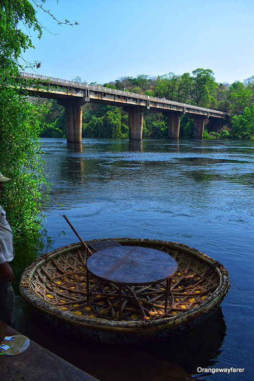 Coracle ride in South Indian river. Read this article to find out what you need to know about traveling to india: Indian Culture, Indian beaches, Indian tourist attractions, Indian food, and more, all shared by a local. #india #indiatips #asia #asiatravel