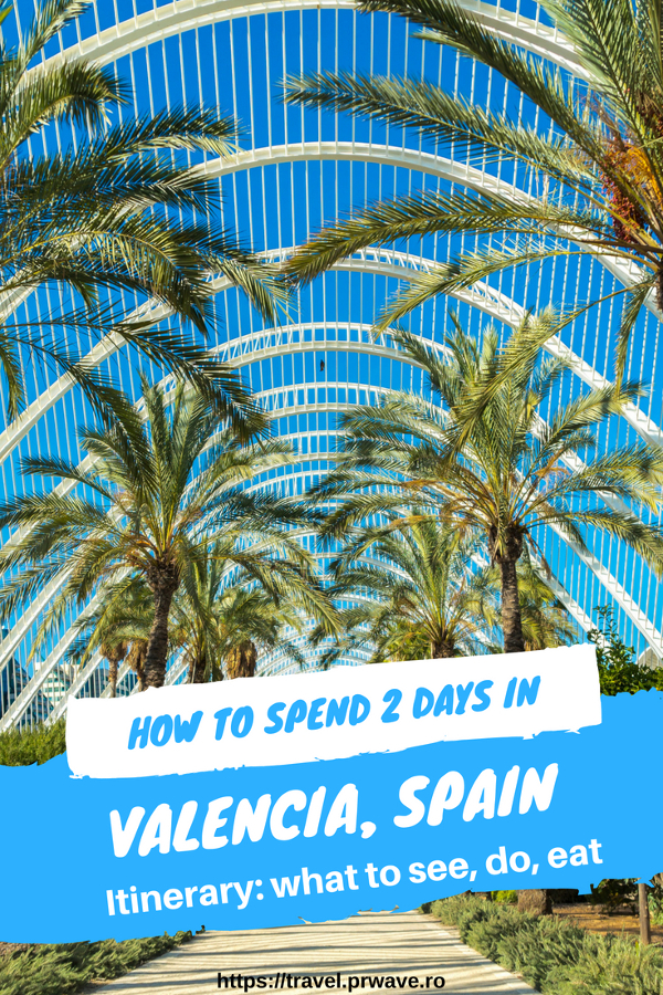 Discover how to spend 2 days in Valencia Spain in a complete 2-day travel itinerary for Valencia with recommendations of things to see in Valencia, where to eat in Valencia, what to do in Valencia in 2 days - all coming from a local. Use this travel guide to Valencia when planning your trip to Valencia. Save this pin to your board #valencia #spain #valenciaitinerary #valenciatravel  #itineraryvalencia #valenciaattractions #valenciathingstosee #valenciatrip #europe
