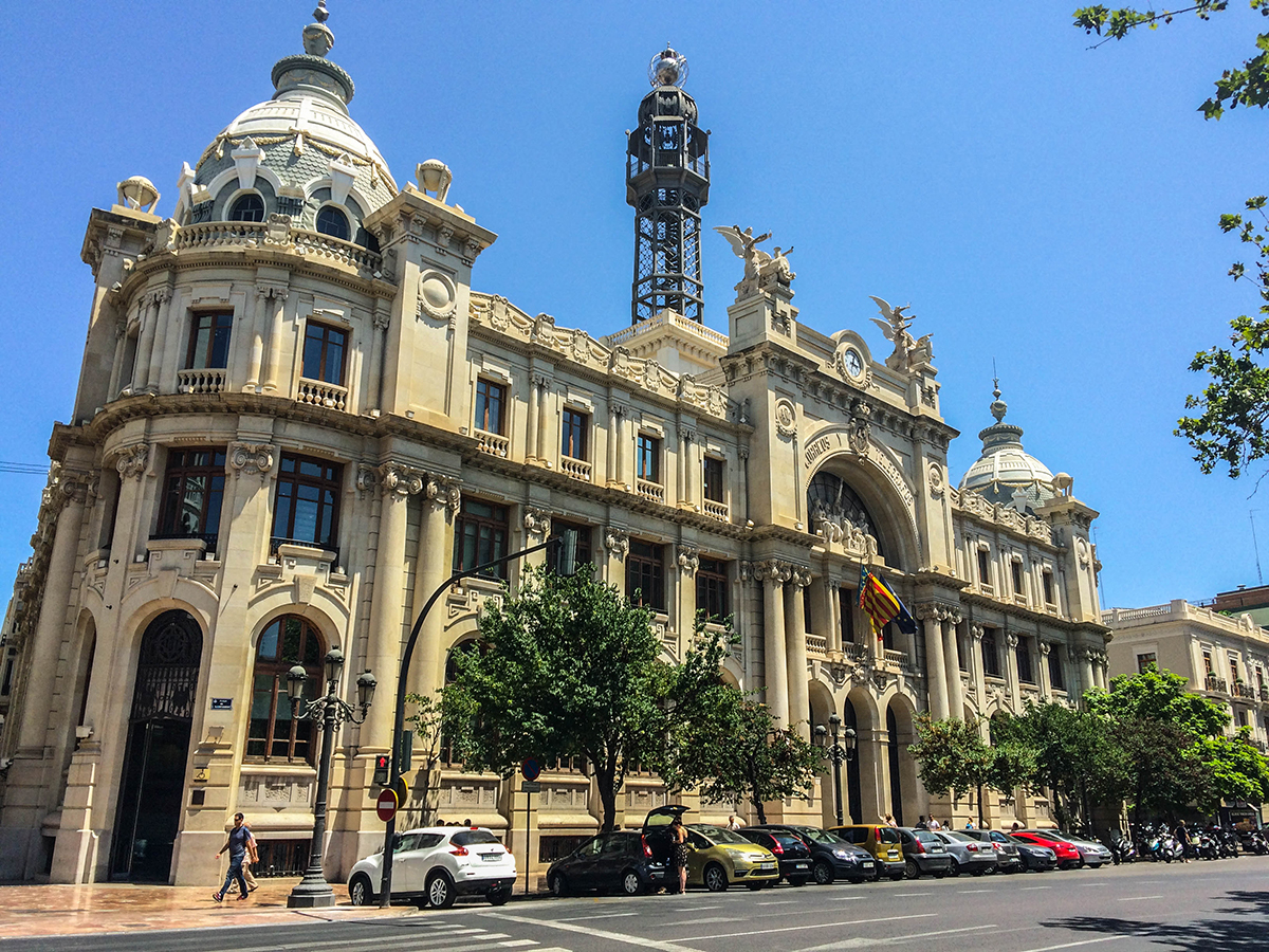 Valencia Post Office - one of the amazing attractions in the Valencia Old Town and one the top things to see in Valencia on your trip. Read the article to discover the perfect 2 day itinerary for Valencia Spain recommended by a local #valencia #spain #valenciaitinerary #valenciatravel #itineraryvalencia Photo by Would Be Traveller