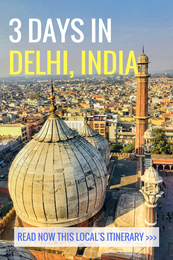 Going to Delhi, India? Here's how to spend 3 days in Delhi – the ultimate travel itinerary by an insider. Read the article to discover the top attractions in Delhi India, where to eat in Delhi, what to do in Delhi, and where to stay in Delhi India. Save this pin for later to your boards #delhi #india #delhiitinerary #delhitravel #itinerarydelhi #delhiattractions #delhithingstosee #delhitrip #asia #indiatravel