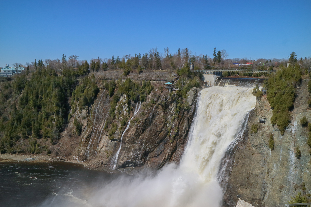 Montmorency Falls, Quebec City Canada - Read this guide for 2 days in Quebec City with the best things to do in Quebec City recommended by an insider and discover where to eat in Quebec City and what to see in Quebec Canada #quebec #quebecitinerary #quebectravel #quebectips #quebecguide #quebeccityitinerary