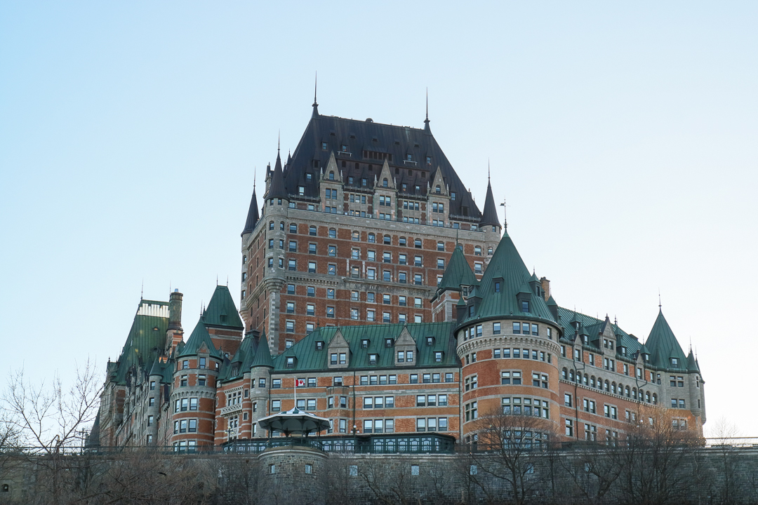 Fairmont Le Château Frontenac, Canada. Discover the top attractions in Quebec City, Canada from an insider and how to spend 2 days in Quebec City Canada, including what to eat in Quebec and what to do in Quebec in 2 days. #quebec #quebecitinerary #quebectravel #quebectips #quebecguide #quebeccityitinerary