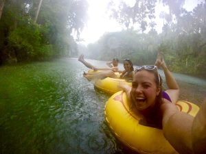 Tubing at Blue Springs. Discover more off the beaten path attractions near Orlando, 10 things to know about Orlando, Fl USA from an insider with tips for Orlando, things to do in Orlando #orlando #orlandotravel #orlandotips #orlandoattractions #orlandoparks #orlandothemeparks #usatravel #usatips