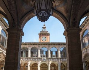 Bologna Archiginnasio. Read this article and discover top UNESCO World Heritage Sites in Europe recommended by travel bloggers. #UNESCO #unescosites #unescositeseurope #europeunesco #italyunesco #italy