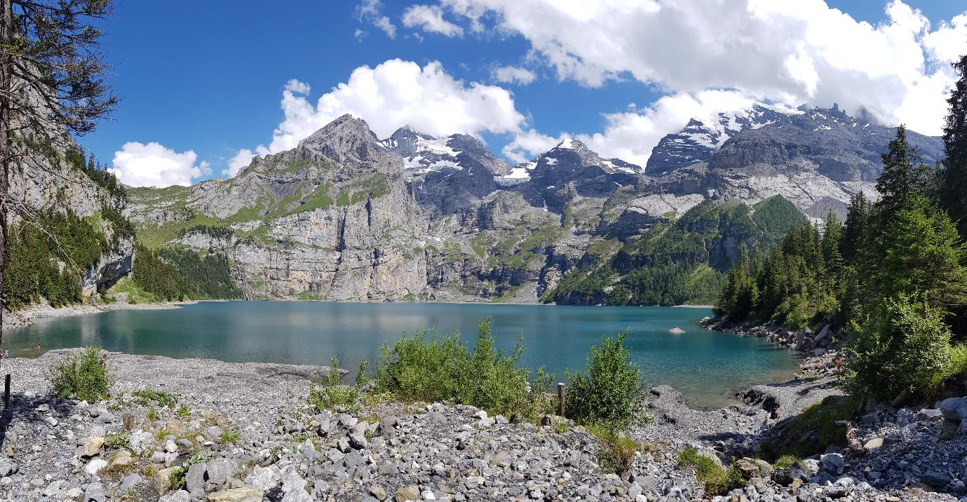 Lake Oeschinen, Switzerland is a splendid UNESCO nature site, part of UNESCO World Heritage Sites in Europe. Discover more amazing heritage sites in Europe from this article. #UNESCO #unescosites #unescositeseurope #europeunesco #switzerlandunesco #switzerland