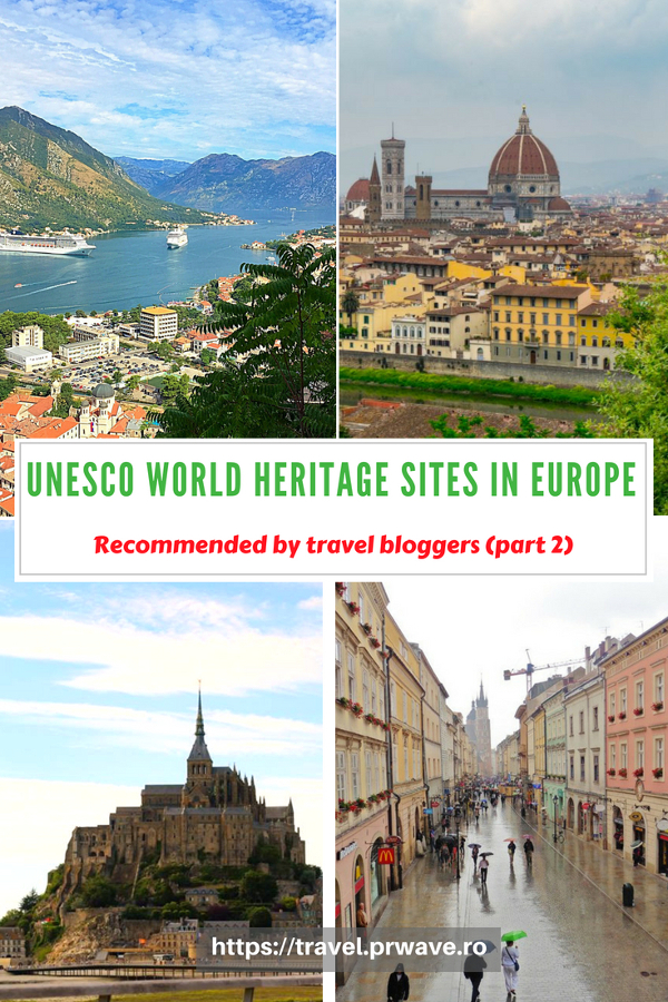 Discover the best UNESCO World Heritage Sites in Europe from this article. Marvelous heritage sites recommended by travel bloggers. Save this pin to your boards. #UNESCO #unescosites #unescositeseurope #europeunesco