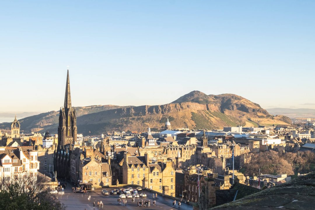 View from Edinburgh Castle. Read this article and discover top UNESCO World Heritage Sites in Europe recommended by travel bloggers. #UNESCO #unescosites #unescositeseurope #europeunesco #scotlandunesco #scotland