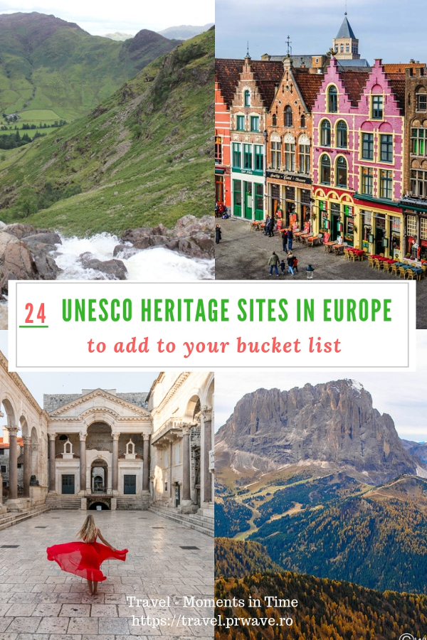 Discover the best UNESCO World Heritage Sites in Europe - 24 cultural sites in Europe to add to your bucket list. UNESCO monuments in Europe, UNESCO areas, UNESCO natural sites in Europe - they are all included. See them all now. Save this pin to your boards. #UNESCO #unescosites #unescositeseurope #europeunesco