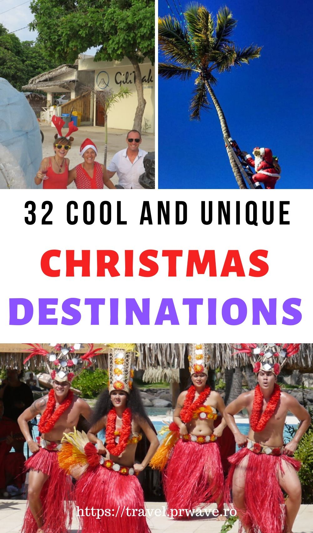 32 Cool and unique Christmas destinations across the globe. Discover alternative Christmas getaways from this article. Find out where to go for Christmas and sun, what cool Christmas traditions you can discover on your trips and start preparing your Christmas holiday with these recommendations. The best places to spend Christmas abroad in one place! Read the article now! #christmas #christmasdestinations #destinations #travel