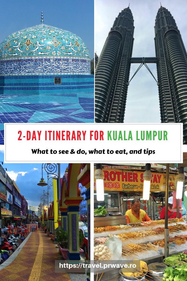Going to Kuala Lumpur? Here's how to spend 2 days in Kuala Lumpur, Malaysia – the ultimate travel itinerary by an insider. Read the article to discover the top attractions in KL, where to eat in Kuala Lumpur, what to do in Kuala Lumpur. Save this pin for later to your boards #klitinerary #2daykualalumpur #kualalumpurguide #kualalumpurtraveling #kualalumpuritinerary