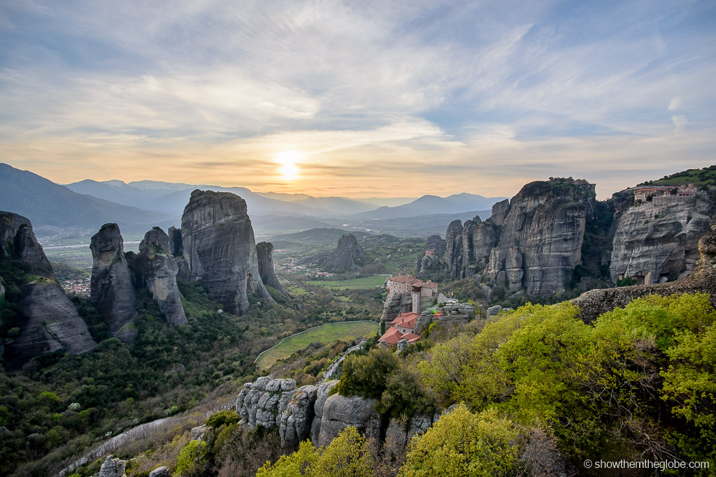 Meteora, Greece is one of the best UNESCO monuments in Europe. Read the article to discover more natural sites in Europe, and a list of world heritage in Europe to add to your bucket list. #UNESCO #unescosites #unescositeseurope #europeunesco #greeceunesco #greece