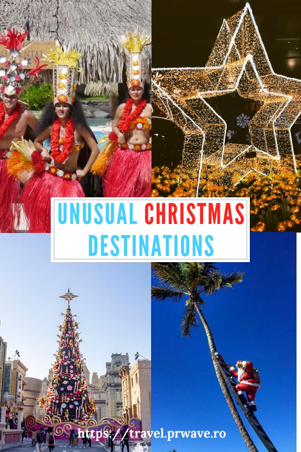 Thinking of Christmas trips? These are the most unusual Christmas holidays ideas! Read the article and discover unique ways to spend Christmas. Save this pin to your boards #christmas #christmasdestinations #christmasholidays #christmastrips #uniquechristmas #unusualchristmas #alternativechristmas